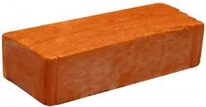Кирпич рядовой полнотелый мелкое рифление, ромбик М 100 Луховицы